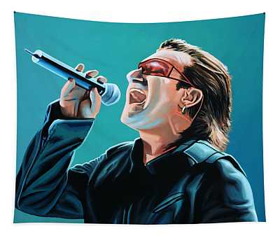 Bono Of U2 Painting Tapestry