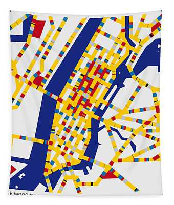 Boogie Woogie New York Tapestry
