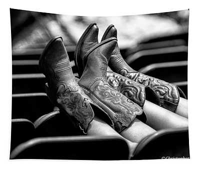 Boots Up - Bw Tapestry
