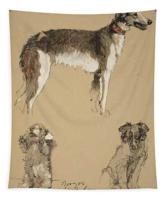Borzoi, Sealyham And Collie, 1930 Tapestry
