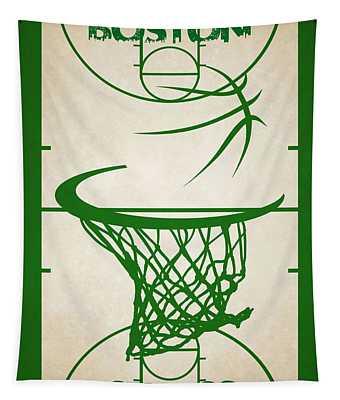 Boston Celtics Court Tapestry