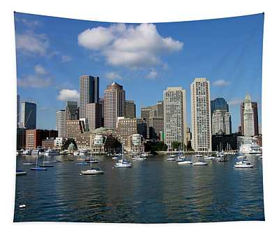 Boston Habor Skyline Tapestry