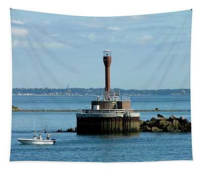 Boston Harbor Lighthouse Tapestry