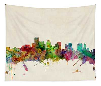 Boston Skyline Tapestry