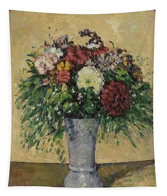 Bouquet Of Flowers In A Vase, C.1877 Oil On Canvas Tapestry