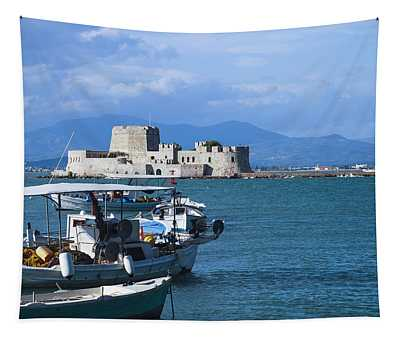 Bourtzi And Boats Tapestry