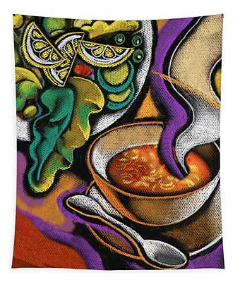 Bowl Of Soup Tapestry