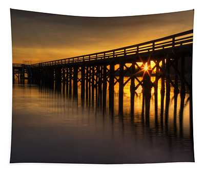 Bowman Bay Pier Sunset Tapestry