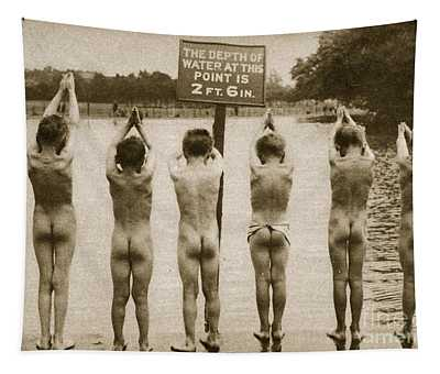 Boys Bathing In The Park Clapham Tapestry