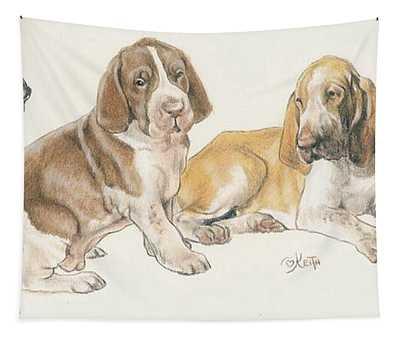 Bracco Italiano Puppies Tapestry