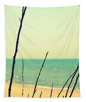 Branches On The Beach Tapestry