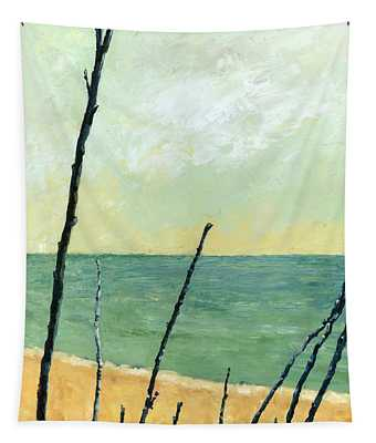 Branches On The Beach - Oil Tapestry