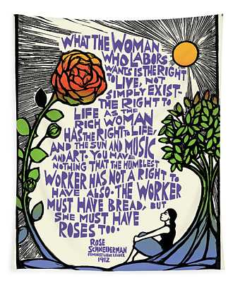 What She Wants Tapestry by Ricardo Levins Morales