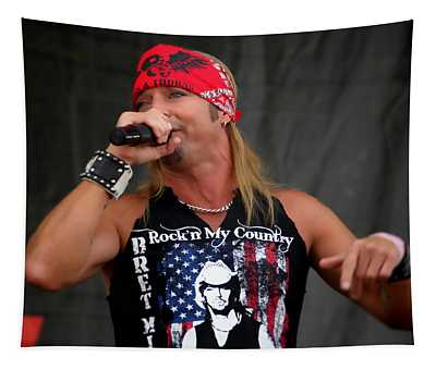 Bret Michaels In Philly Tapestry