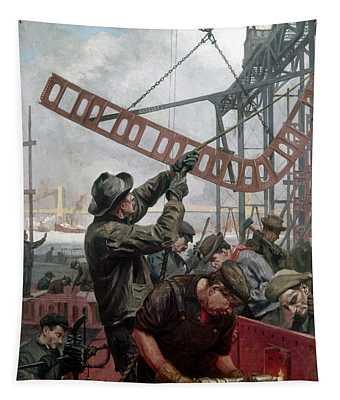 Bridge Construction 1909 Tapestry