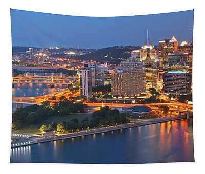 Bridge To The Pittsburgh Skyline Tapestry