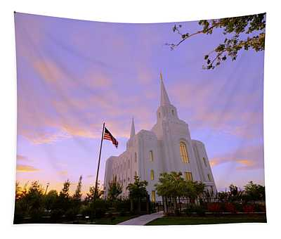 Brigham City Temple I Tapestry