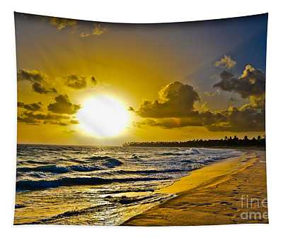 Tapestry featuring the photograph Bright Hard Rock Sunrise by Gary Keesler