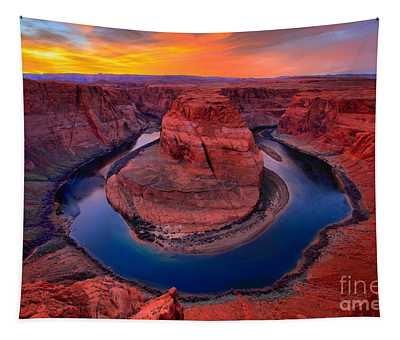 Bright Skies Over Horseshoe Tapestry