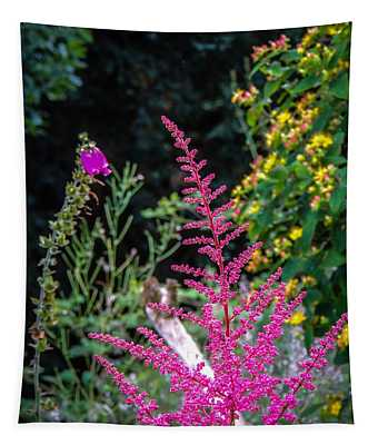 Tapestry featuring the photograph Brilliant Astilbe In Markree Castle Gardens by James Truett