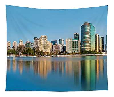 Brisbane City Reflections Tapestry