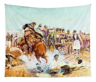 Bronc For Breakfast Tapestry
