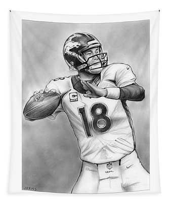 Broncos Peyton Manning Tapestry