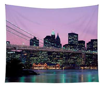 Brooklyn Bridge New York Ny Usa Tapestry