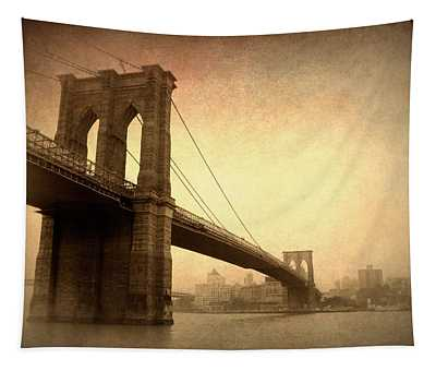 Brooklyn Bridge Nostalgia II Tapestry
