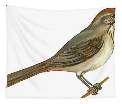 Brown Towhee Tapestry