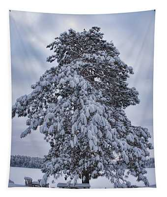 Buck Lake Flocked Pine Tapestry