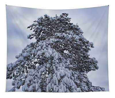 Buck Lake Flocked Pine Tapestry