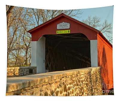 Bucks County Van Sant Covered Bridge Tapestry