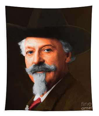 Buffalo Bill Cody 20130516 Square Tapestry