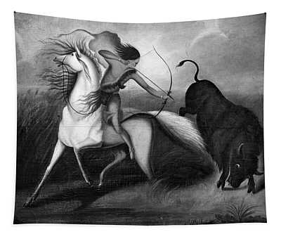 Buffalo Hunt, C1844 Tapestry