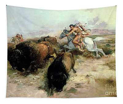 Buffalo Hunt Tapestry