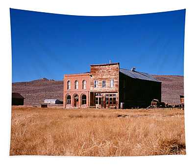 Buildings In A Ghost Town, Bodie Ghost Tapestry