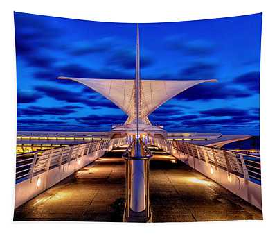 Burke Brise Soleil At Blue Hour Tapestry