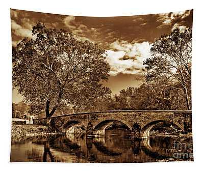 Burnside Bridge At Antietam - Toned Tapestry