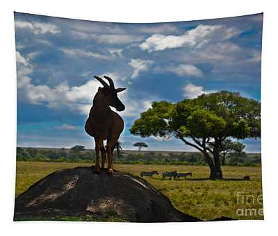 Tapestry featuring the photograph Bushbuck Guard Of The Mound   by Gary Keesler