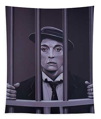 Buster Keaton Painting Tapestry