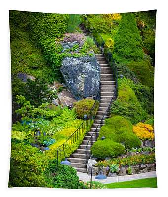 Butchart Gardens Stairs Tapestry