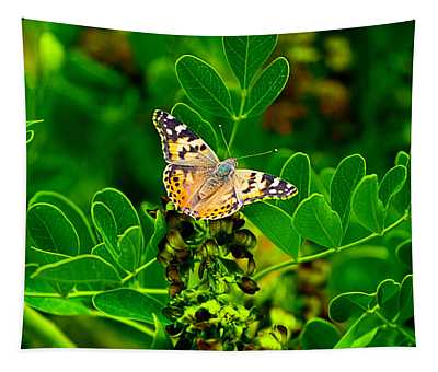 Butterfly In Paradise Tapestry