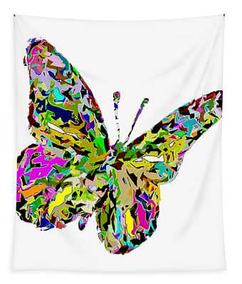 Butterfly Color Flutter Tapestry