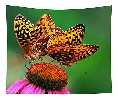 Tapestry featuring the photograph Butterfly Twins by Christina Rollo