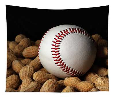 Buy Me Some Peanuts - Baseball - Nuts - Snack - Sport Tapestry