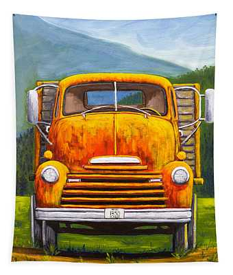 Cabover Truck Tapestry