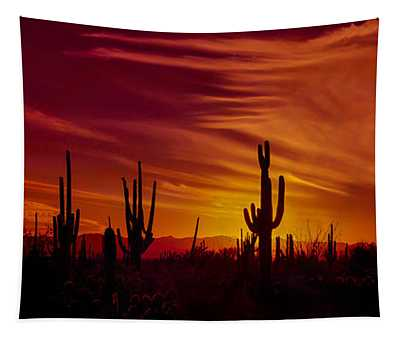 Cactus Glow Tapestry