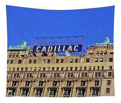 Cadillac Building In Downtown Detroit Tapestry