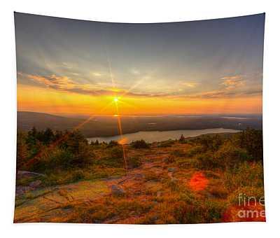 Cadillac Mountain Sunset Acadia National Park Bar Harbor Maine Tapestry